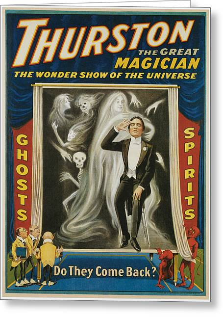 Thurston The Great Magician Greeting Card by Unknown