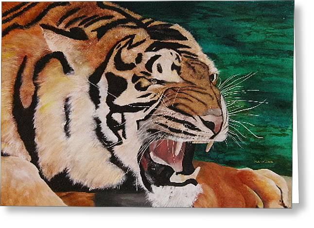 Tiger Paw Greeting Card by Shahid Muqaddim