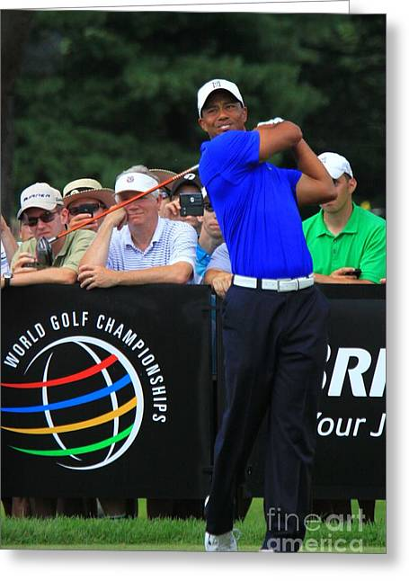 Tiger Woods Greeting Card by Douglas Sacha