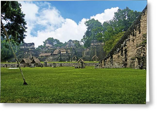 Tikal, Guatemala Greeting Card by Marius Sipa