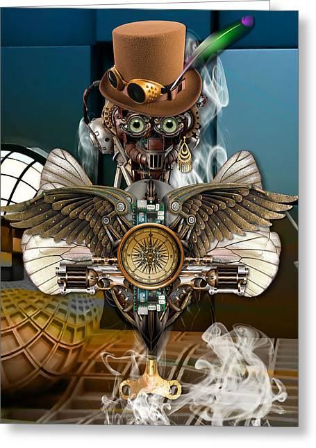 Time Traveler Art Greeting Card