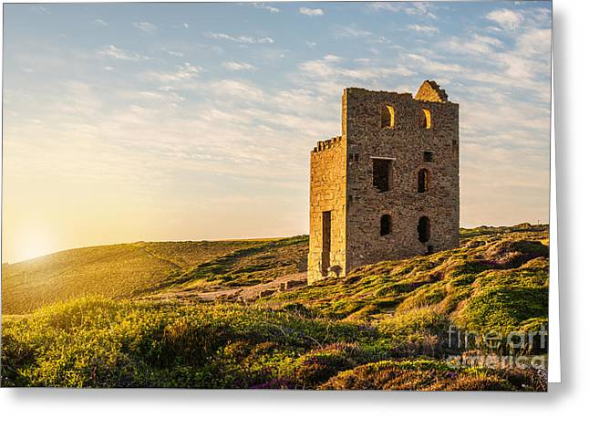 Tin Mine At St. Agnes, Cornwall, England Greeting Card by Amanda Elwell
