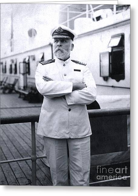 Titanic's Captain Edward John Smith Greeting Card by The Titanic Project