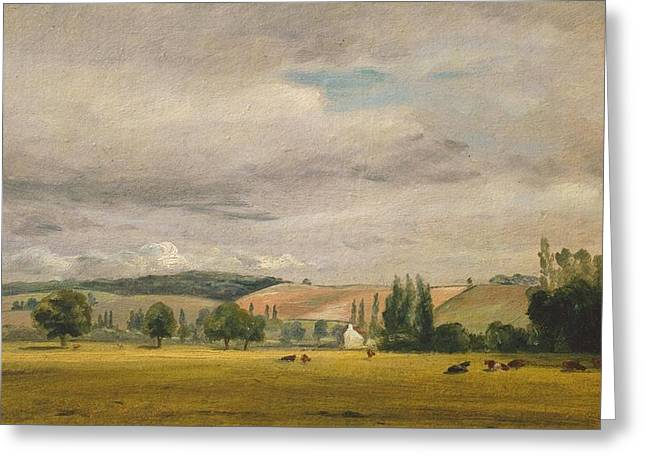 Title Dedham Vale With The House Greeting Card by John Constable