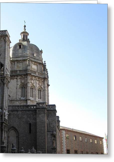 Toledo Cathedral In Sight Greeting Card
