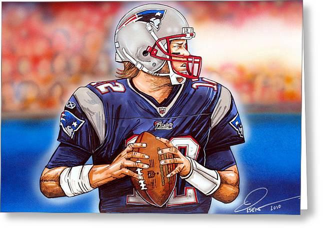 Tom Brady Greeting Card by Dave Olsen