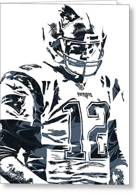 Tom Brady New England Patriots Pixel Art 4 Greeting Card