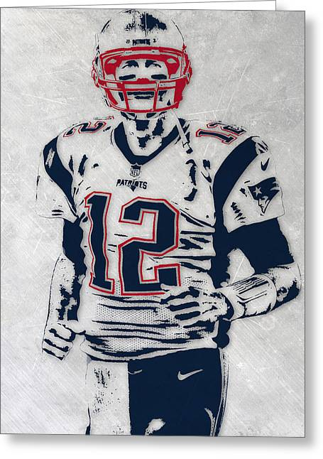 Tom Brady New England Patriots Pixel Art 5 Greeting Card
