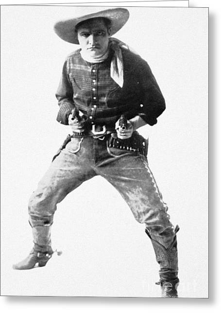 Neckerchief Greeting Cards - Tom Mix (1880-1944) Greeting Card by Granger
