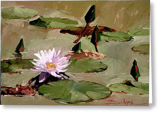 Tomorrow's Blooms- Water Lilies Greeting Card
