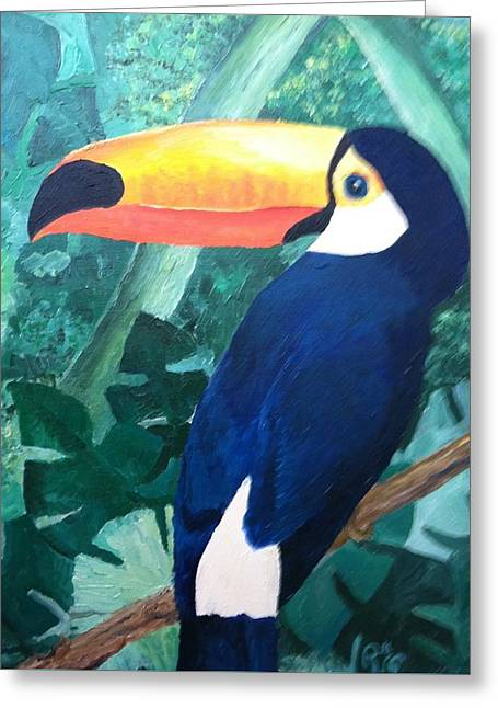 Tony The Toucan Greeting Card by Robert Schmidt