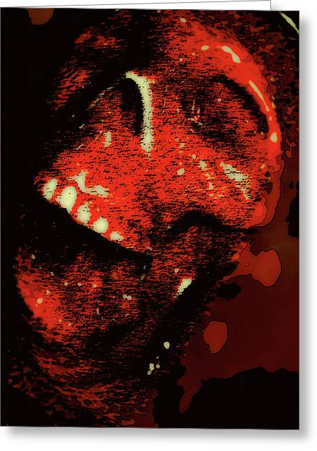 Tormented Greeting Card by Marnie Patchett