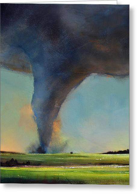Best Sellers -  - Storm Prints Greeting Cards - Tornado on the Move Greeting Card by Toni Grote