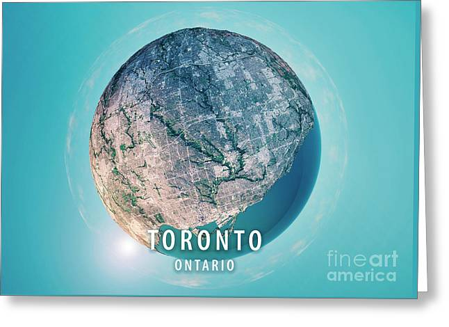Toronto 3d Little Planet 360-degree Sphere Panorama Greeting Card by Frank Ramspott