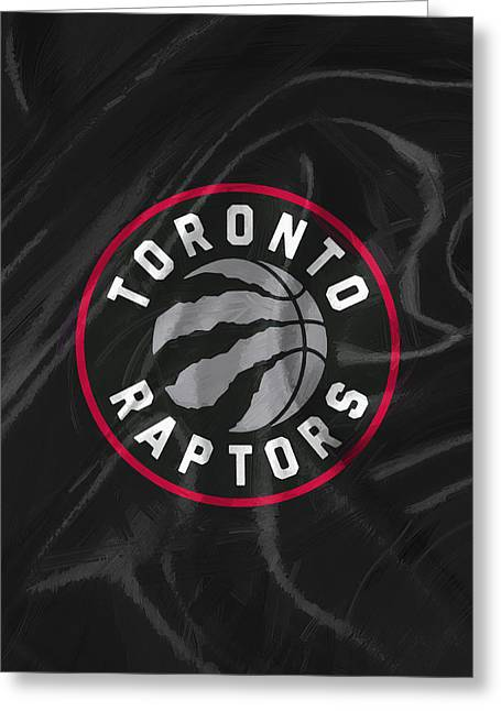 Toronto Raptors Greeting Card by Afterdarkness