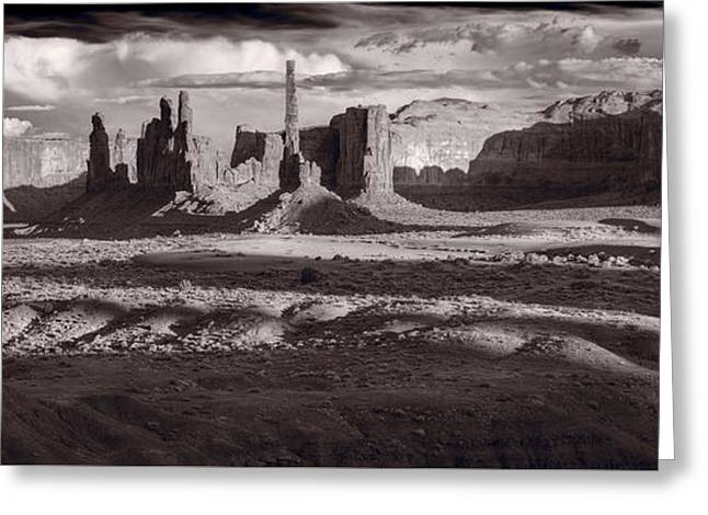 Totem Pole And Yei Bi Chei Monument Valley Greeting Card