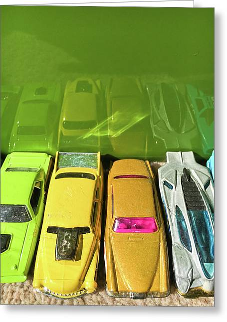 Toy Cars Greeting Card