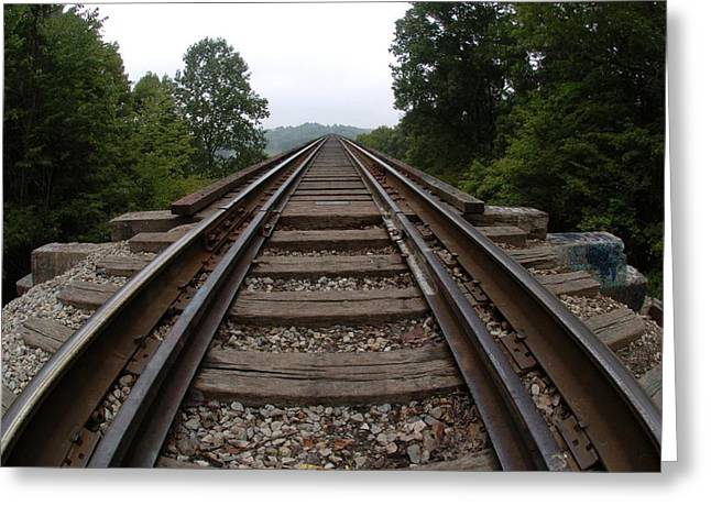 Tracks  Greeting Card by Jon Benson