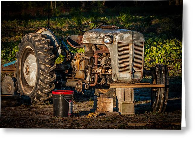 Tractor Downtime Greeting Card by Billy Burdette