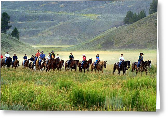 Trail Ride Greeting Card by Marty Koch