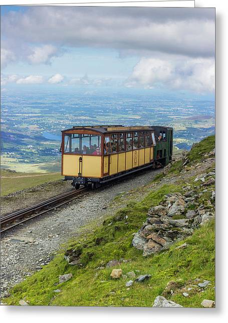 Greeting Card featuring the photograph Train To Snowdon by Ian Mitchell