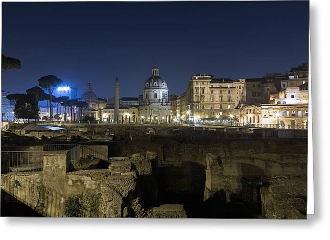Trajan's Forum Greeting Card by Travel and Destinations - By Mike Clegg