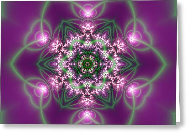 Transition Flower 6 Beats 3 Greeting Card by Robert Thalmeier