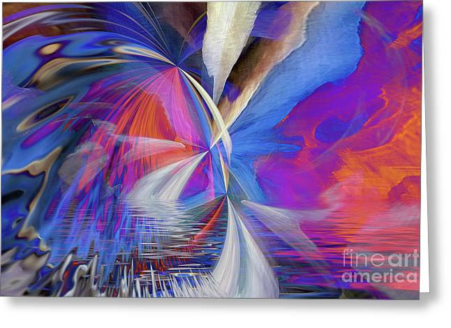 Greeting Card featuring the digital art Transition 2016 by Margie Chapman