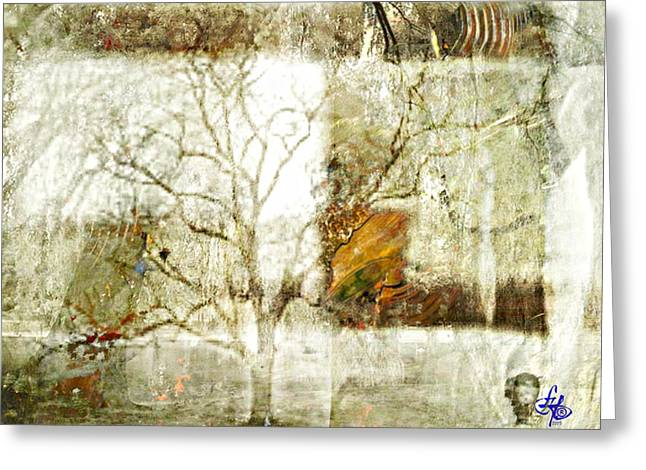 Tree Deconstructed 2 Greeting Card by Lynda Payton
