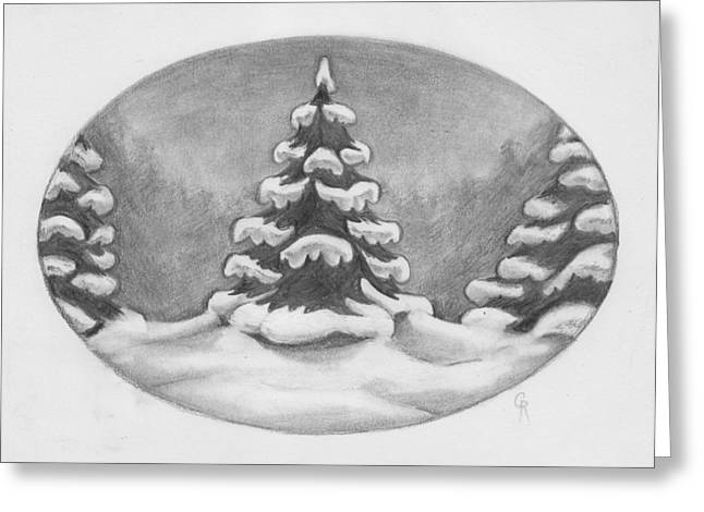Tree Frosting Greeting Card by Cheri Crawford