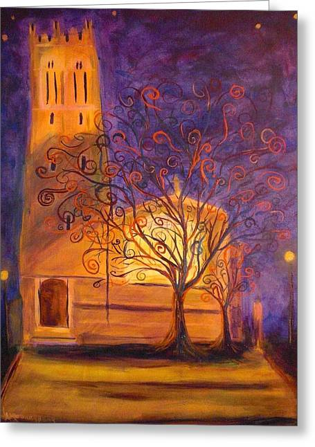 Tree In Ghent Greeting Card by Lauren Mooney Bear