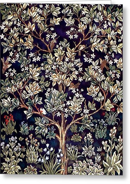 Tree Of Life Greeting Card by William Morris