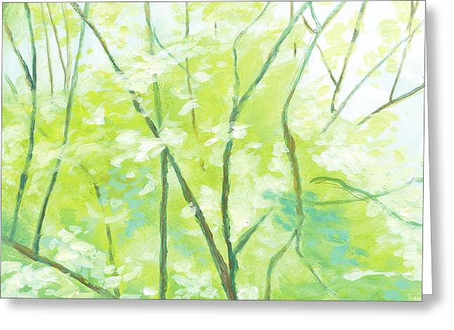 Trees 1 Greeting Card by Melody Cleary
