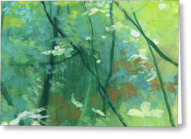 Trees 2 Greeting Card by Melody Cleary