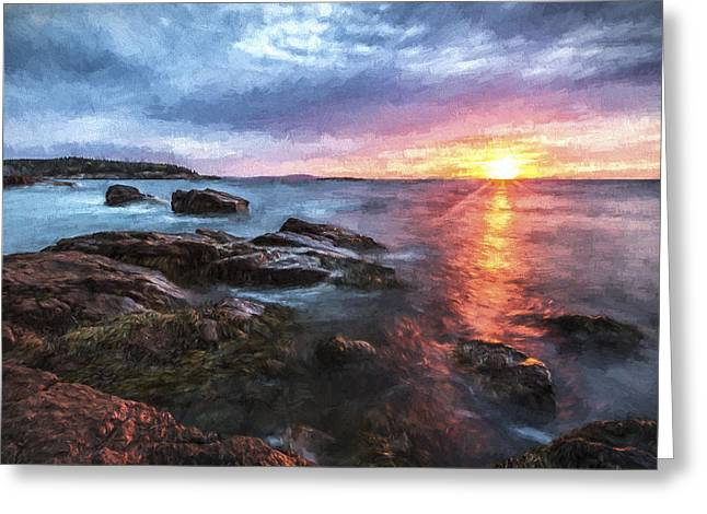 Trembling On The Shore Greeting Card by Jon Glaser