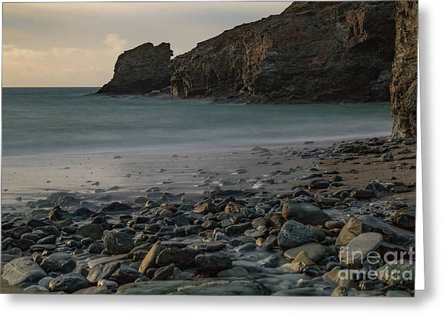 Greeting Card featuring the photograph Trevellas Cove by Brian Roscorla