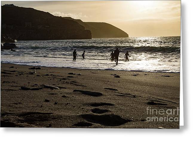 Greeting Card featuring the photograph Photographs Of Cornwall Trevellas Cove Cornwall by Brian Roscorla