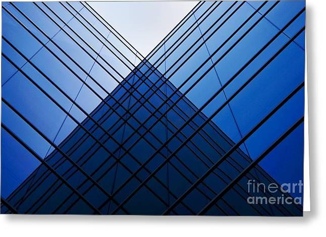Triangle Reflection Greeting Card by Hideaki Sakurai