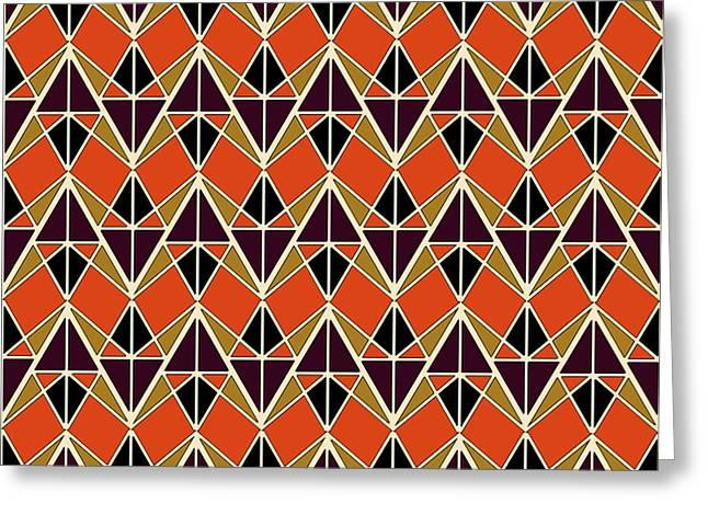 Triangles Pattern Greeting Card by Gaspar Avila