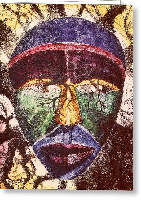 Tribes Past Greeting Card by Peg Graham