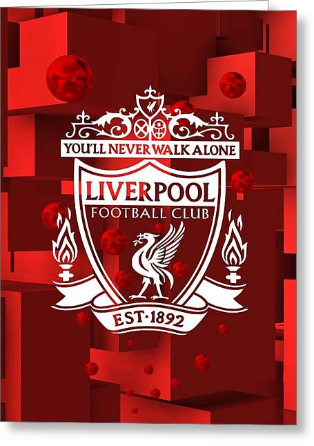 Tribute To Liverpool 3 Greeting Card