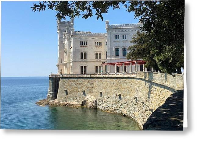 Trieste Miramare Castle Greeting Card by Italian Art