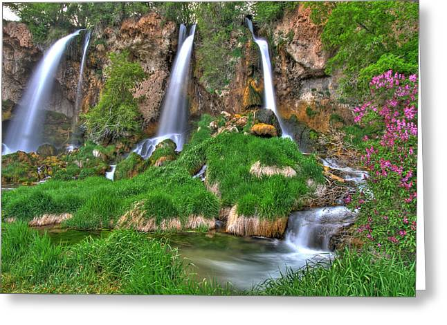 Triple Falls Greeting Card