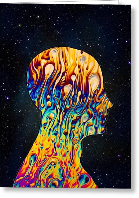 Trippy Head Greeting Card