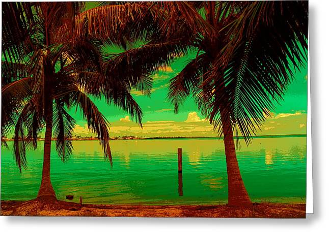 Tropic Nite Greeting Card by Florene Welebny