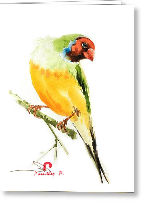 Tropical Bird Art Greeting Card