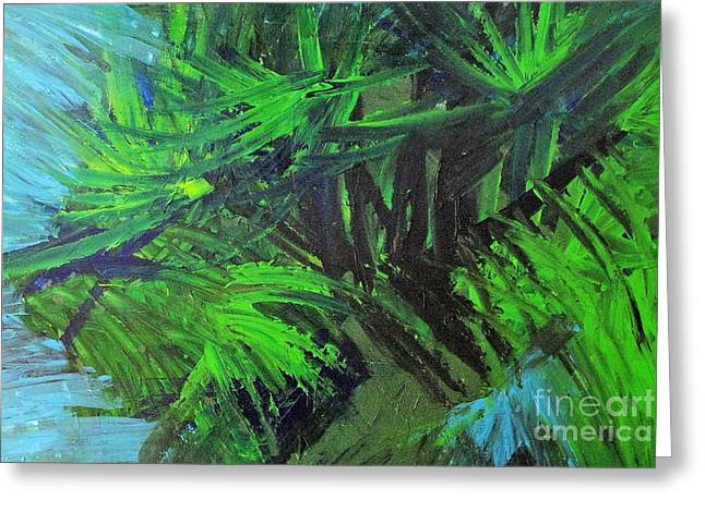 Tropical Paradise Greeting Card by Shelly Wiseberg
