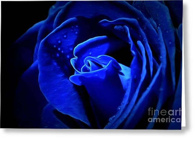 True Blue Greeting Card by Krissy Katsimbras