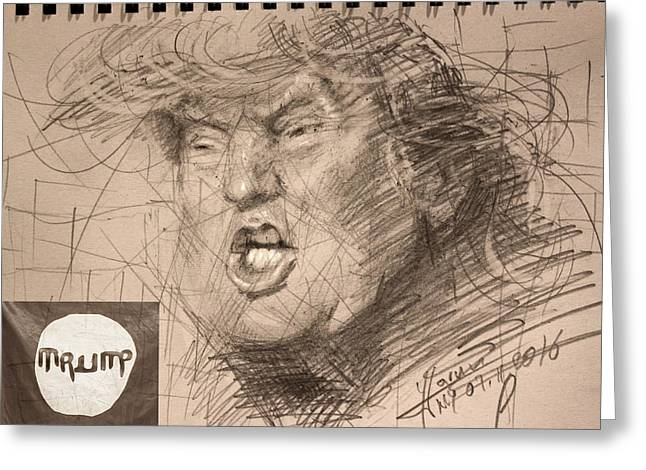 Trump Greeting Card by Ylli Haruni