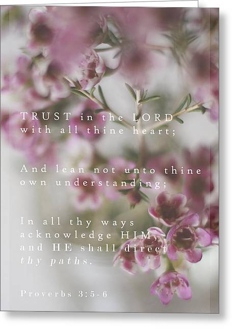 Trust In The Lord Greeting Card by Inspired Arts